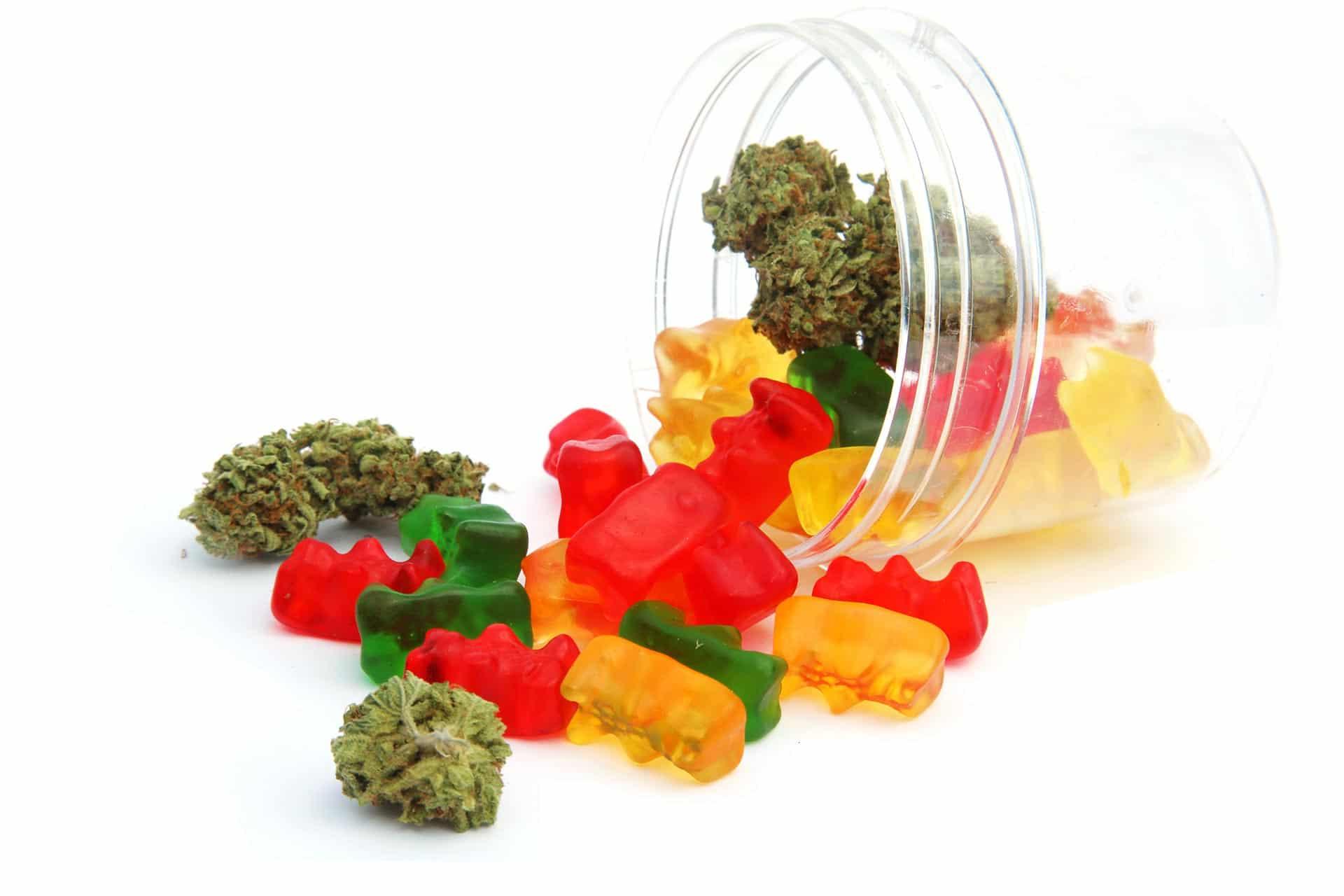 boîte de bonbons au CBD
